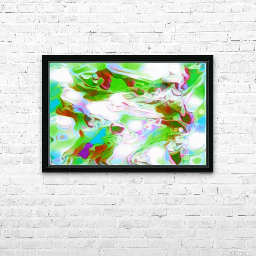 Green Glass Window - multicolor green abstract swirl wall art HD Sublimation Metal print with Decorating Float Frame (BOX)