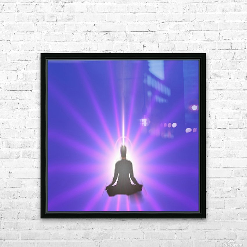 Meditation Art HD Sublimation Metal print with Decorating Float Frame (BOX)