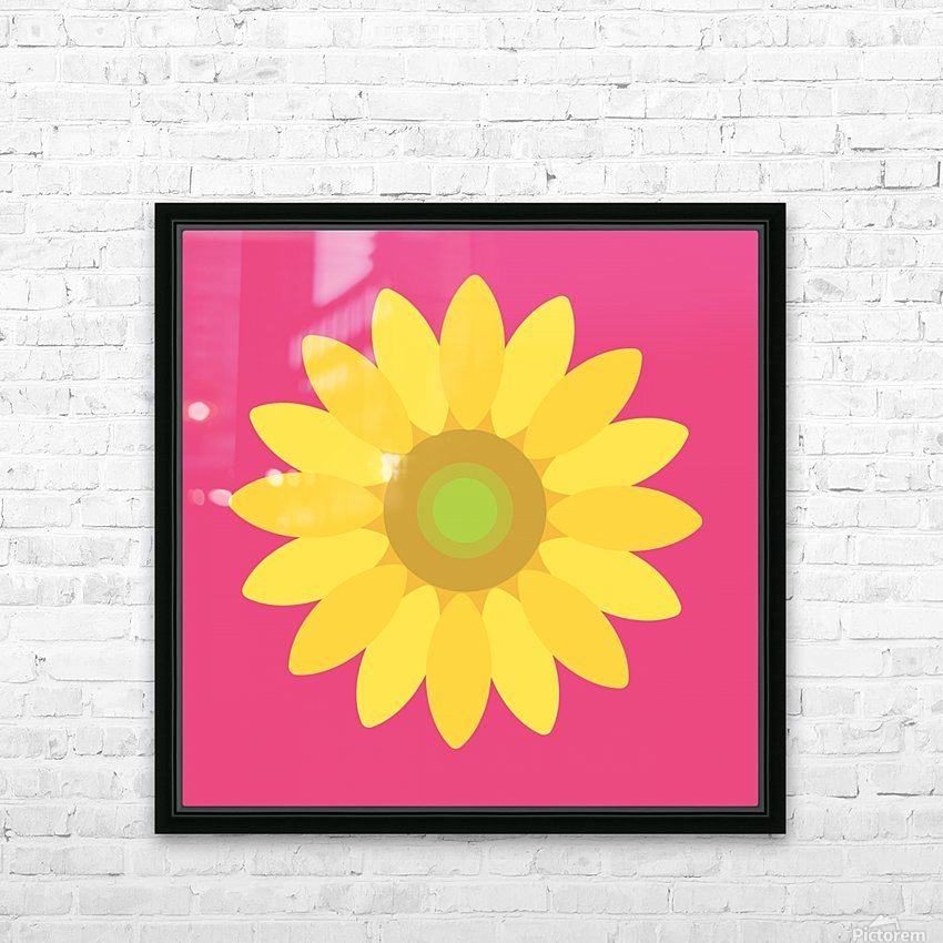 Sunflower (10) HD Sublimation Metal print with Decorating Float Frame (BOX)
