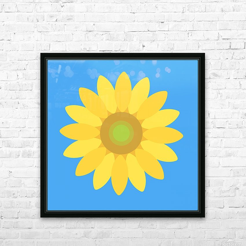 Sunflower (13)_1559875861.0802 HD Sublimation Metal print with Decorating Float Frame (BOX)