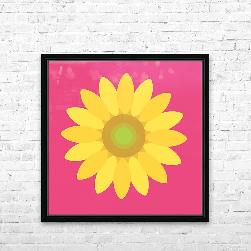 Sunflower (10)_1559875861.0244 HD Sublimation Metal print with Decorating Float Frame (BOX)