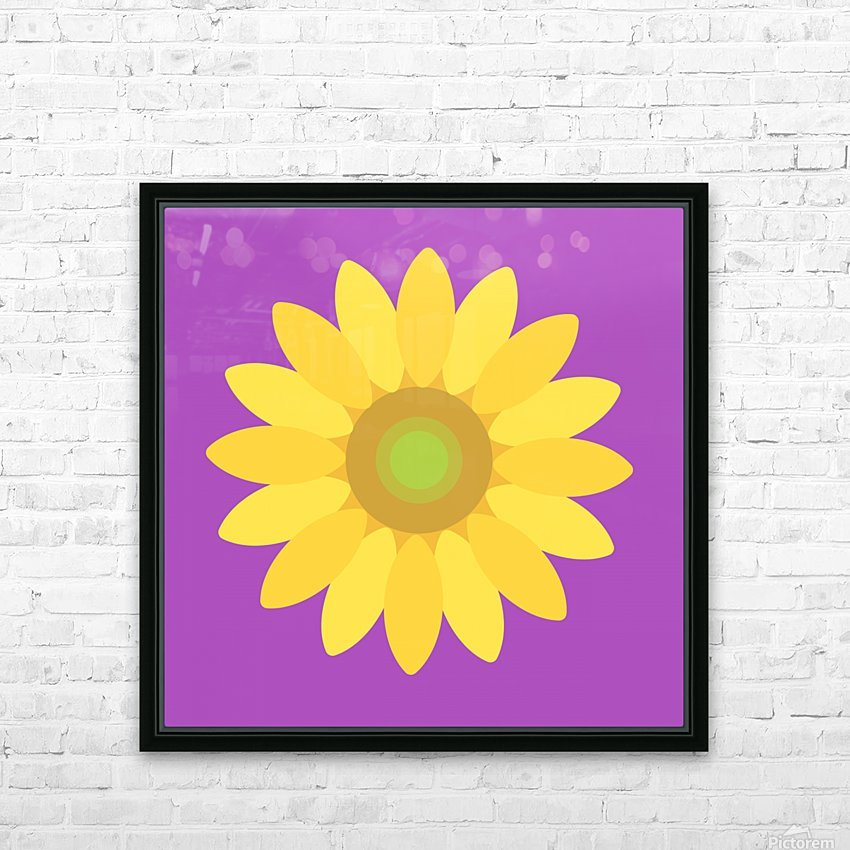 Sunflower (11)_1559876482.665 HD Sublimation Metal print with Decorating Float Frame (BOX)