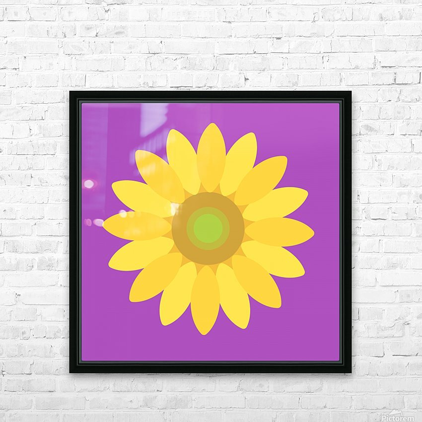 Sunflower (11)_1559876665.8187 HD Sublimation Metal print with Decorating Float Frame (BOX)