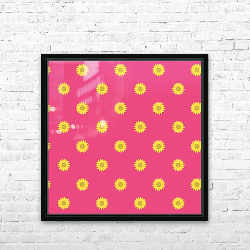 Sunflower (33)_1559876732.0608 HD Sublimation Metal print with Decorating Float Frame (BOX)