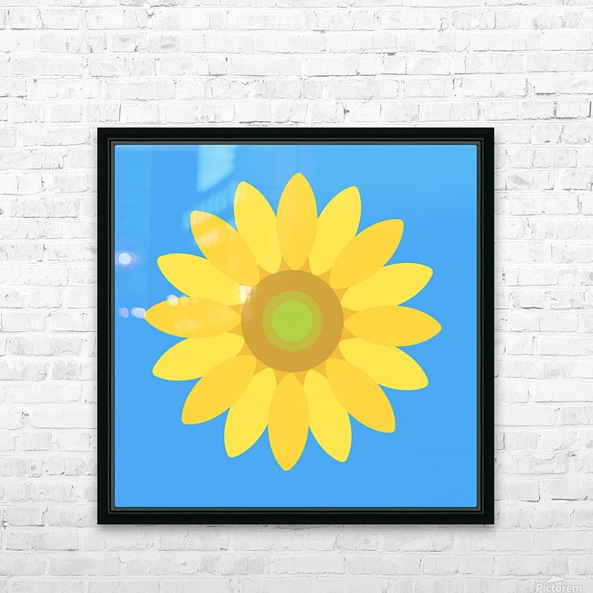 Sunflower (13)_1559876665.7609 HD Sublimation Metal print with Decorating Float Frame (BOX)