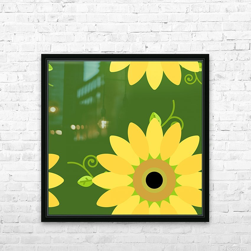Sunflower (59)_1559876653.1233 HD Sublimation Metal print with Decorating Float Frame (BOX)