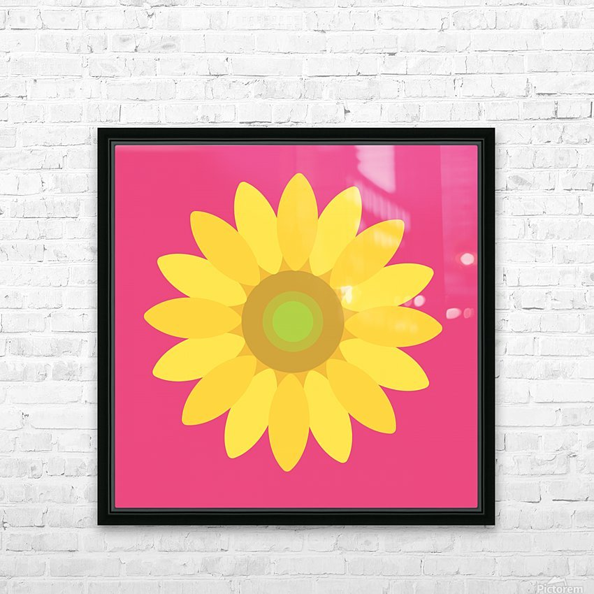Sunflower (10)_1559876729.1568 HD Sublimation Metal print with Decorating Float Frame (BOX)