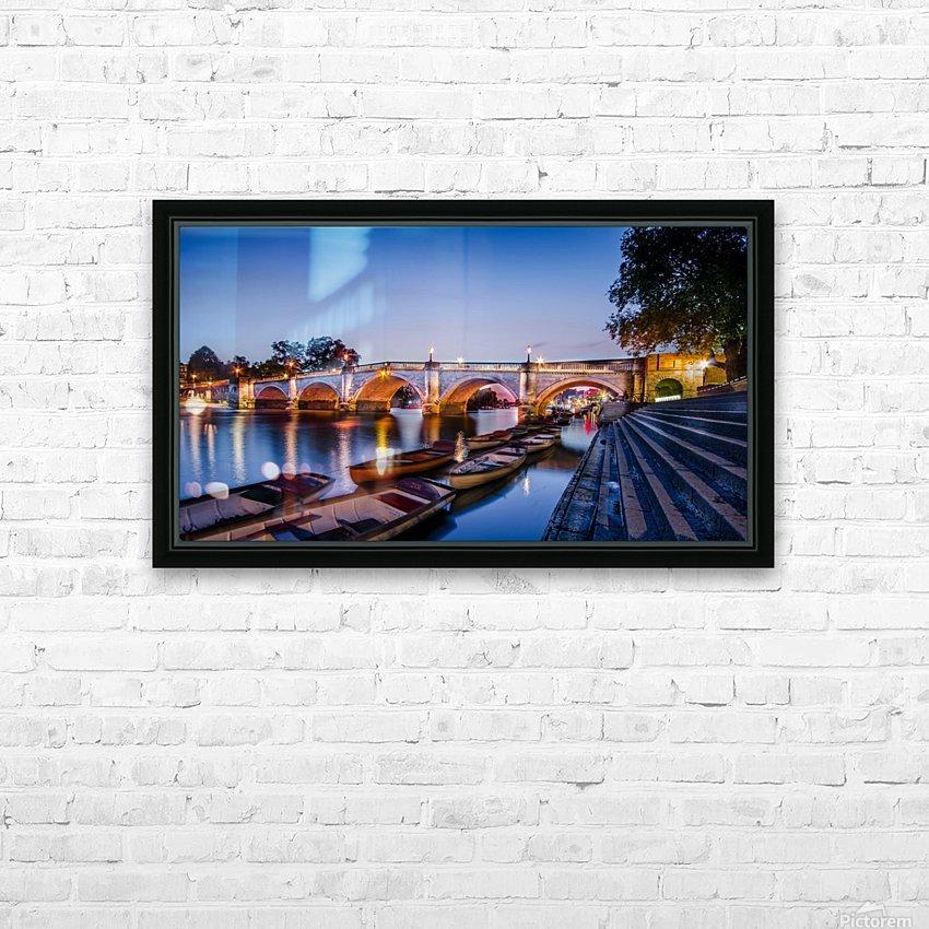 Richmond Bridge London HD Sublimation Metal print with Decorating Float Frame (BOX)