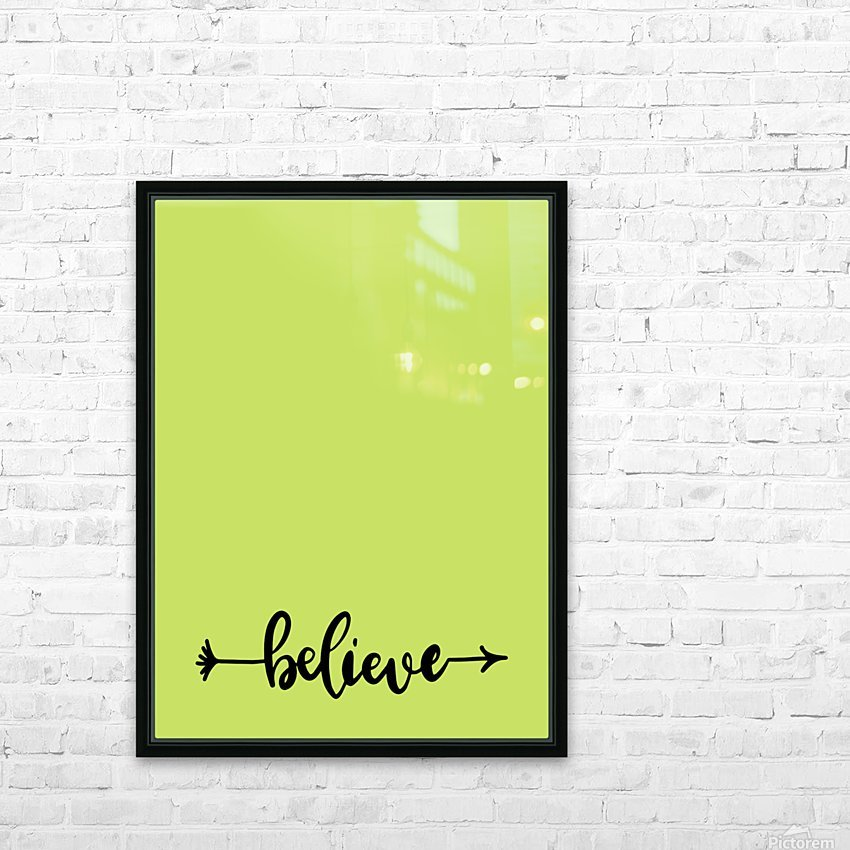 believe HD Sublimation Metal print with Decorating Float Frame (BOX)