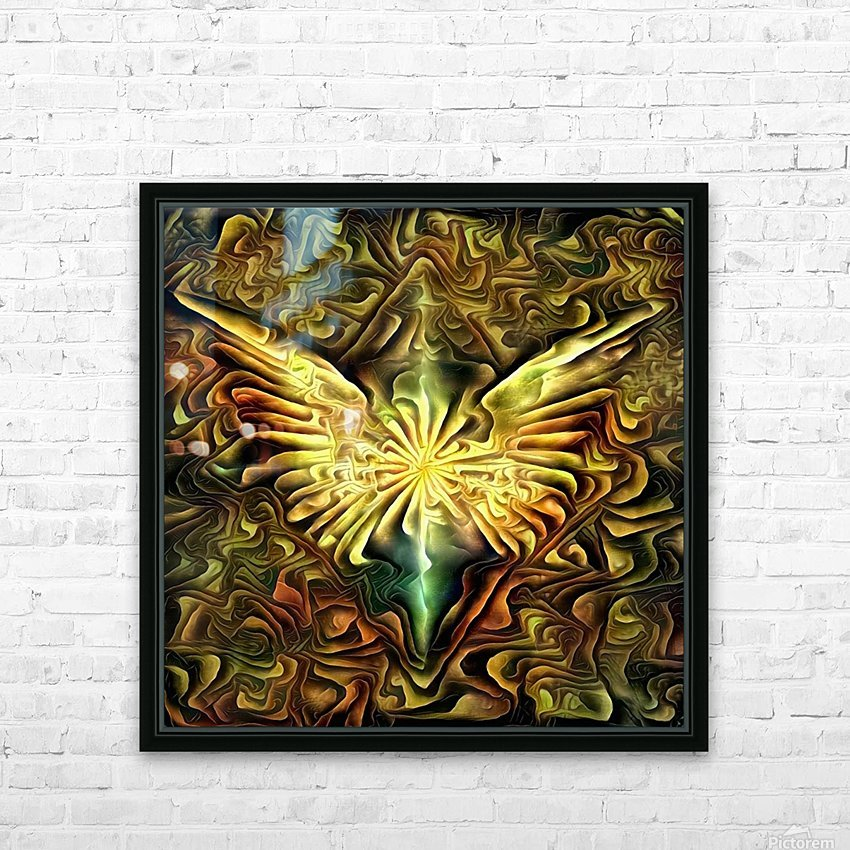 Shining Wings HD Sublimation Metal print with Decorating Float Frame (BOX)