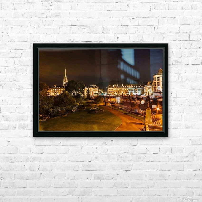 Bath at night HD Sublimation Metal print with Decorating Float Frame (BOX)