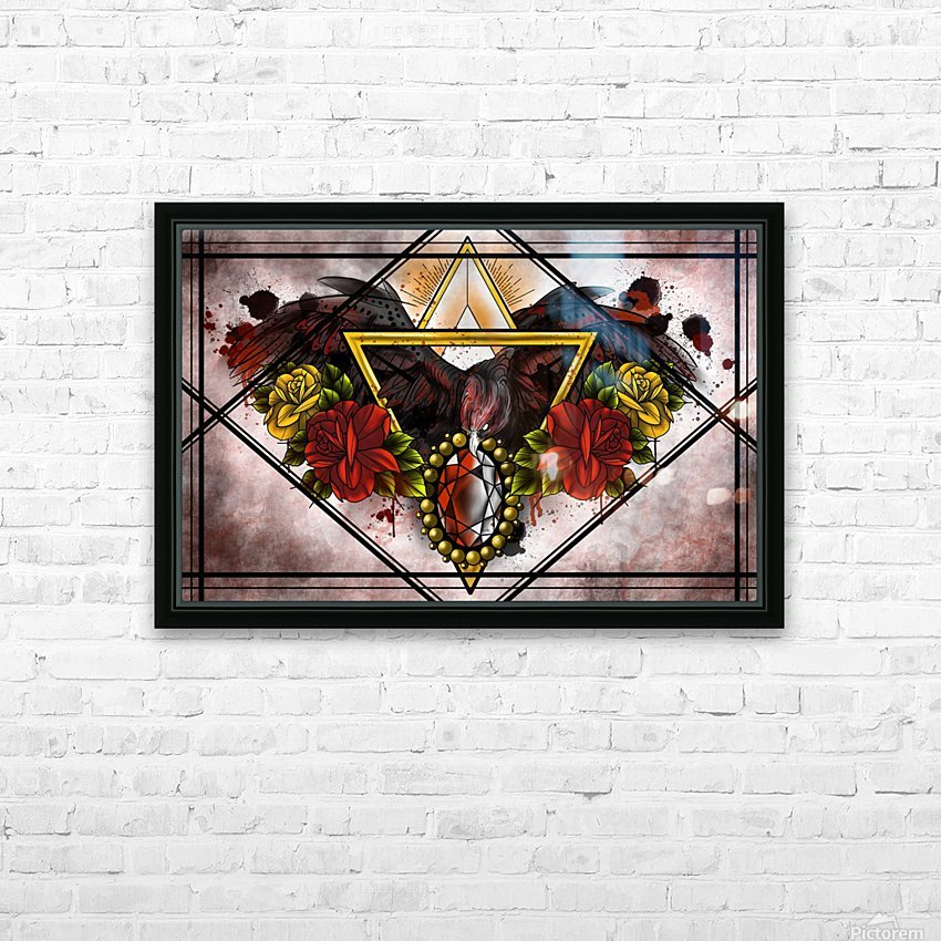 Wings of Gold  HD Sublimation Metal print with Decorating Float Frame (BOX)