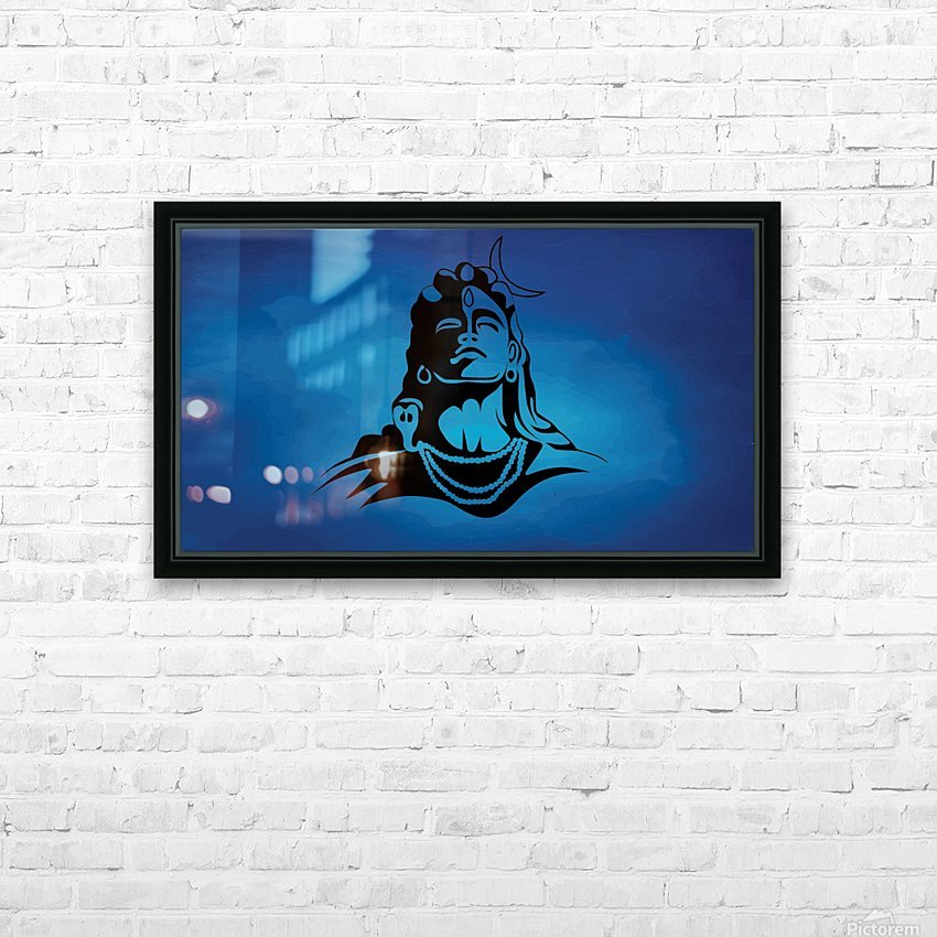 Lord Shiva HD Sublimation Metal print with Decorating Float Frame (BOX)