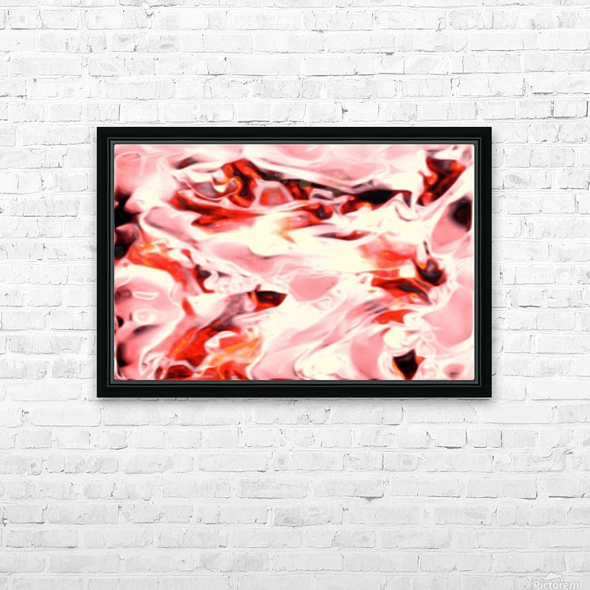Super Charged - red orange pink abstract swirls wall art HD Sublimation Metal print with Decorating Float Frame (BOX)