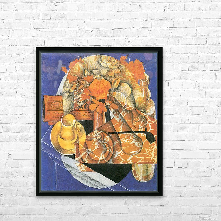 Leafs by Juan Gris HD Sublimation Metal print with Decorating Float Frame (BOX)