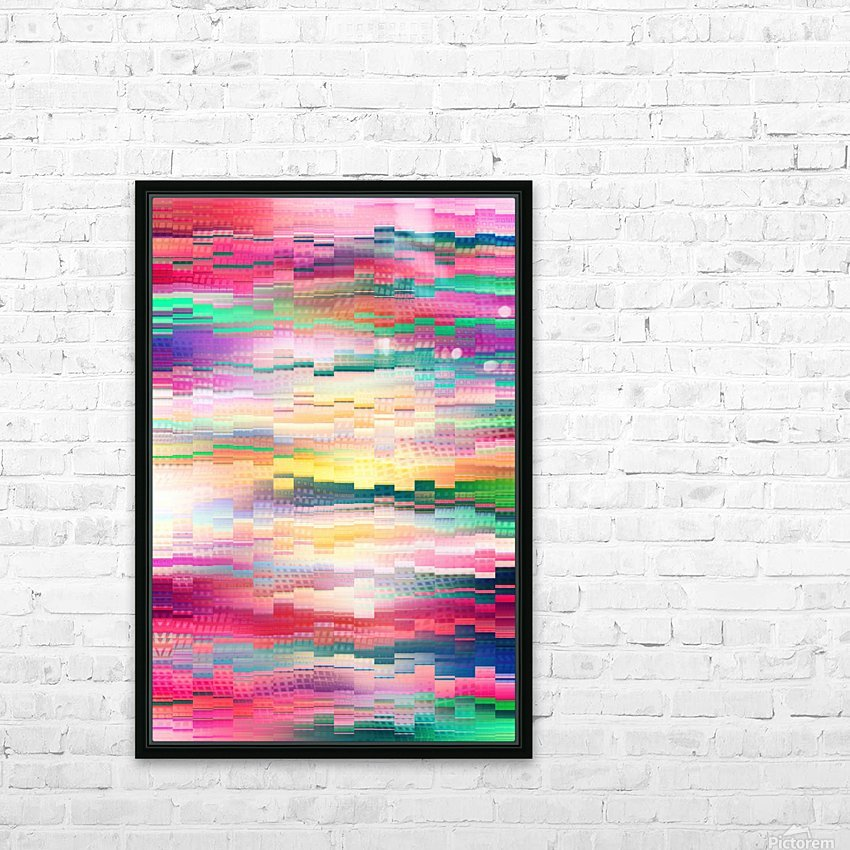 Vivid Pattern XVI HD Sublimation Metal print with Decorating Float Frame (BOX)