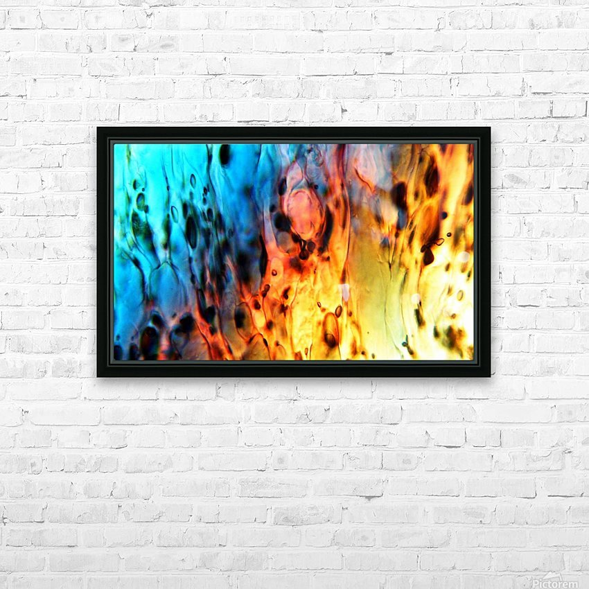 Fire Woman HD Sublimation Metal print with Decorating Float Frame (BOX)