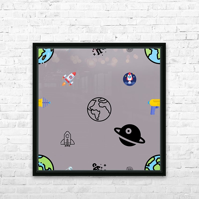 Space (5) HD Sublimation Metal print with Decorating Float Frame (BOX)