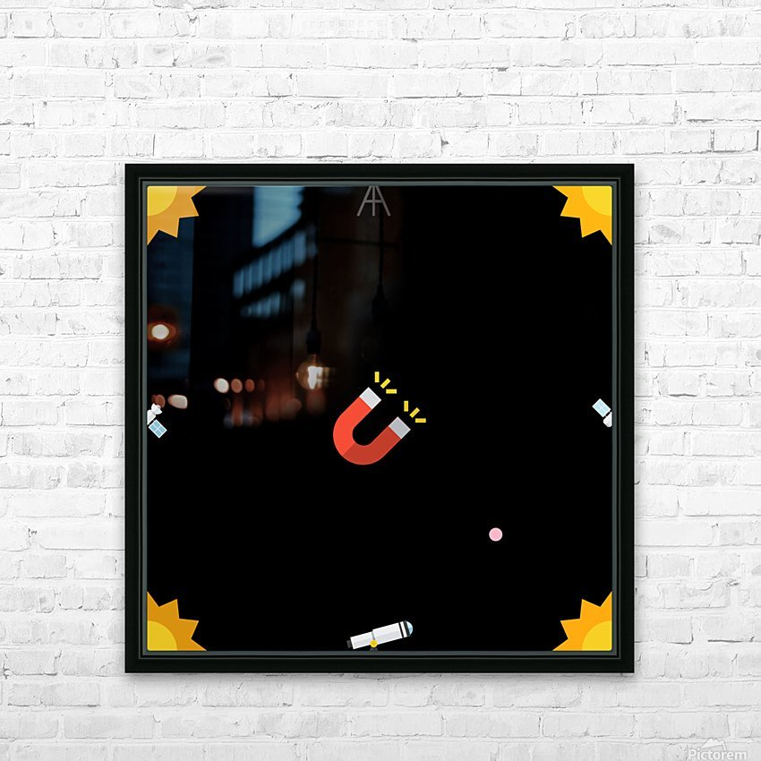 Space (19) HD Sublimation Metal print with Decorating Float Frame (BOX)