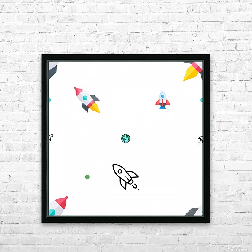 Space (15) HD Sublimation Metal print with Decorating Float Frame (BOX)