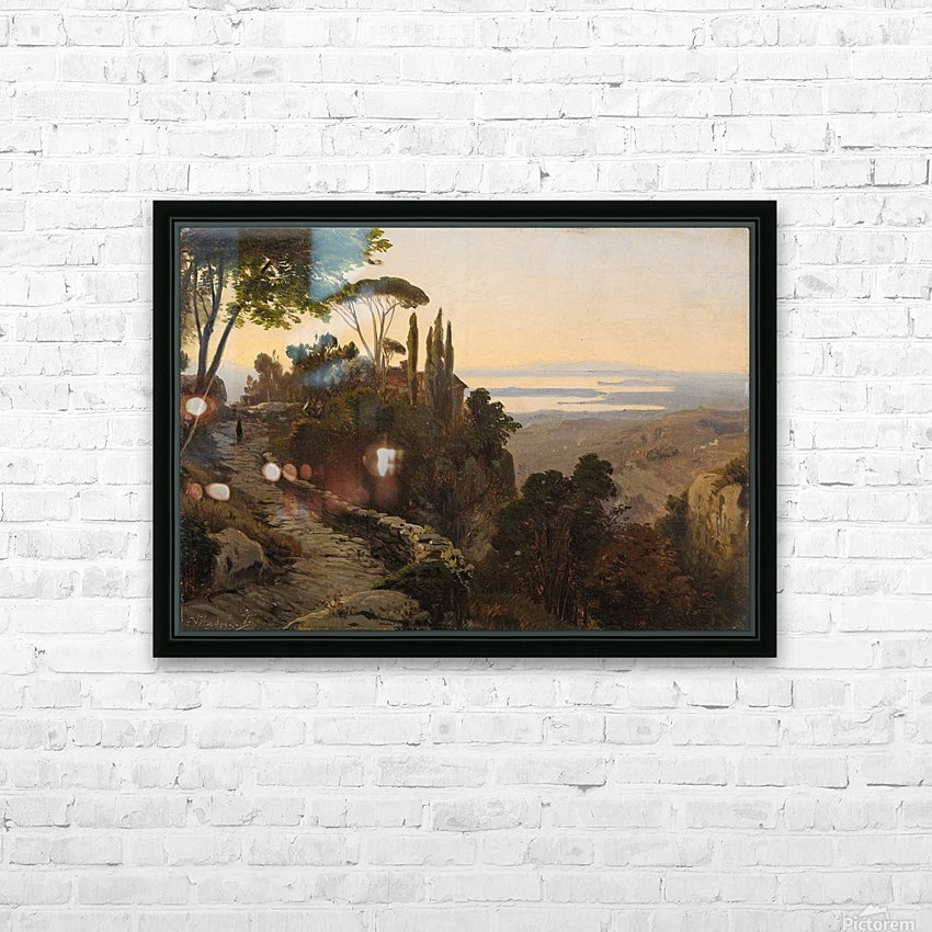 Italian Landscape HD Sublimation Metal print with Decorating Float Frame (BOX)