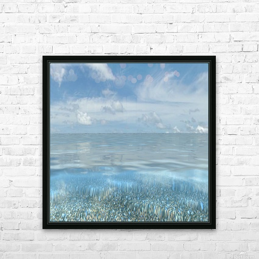 Beach Art HD Sublimation Metal print with Decorating Float Frame (BOX)