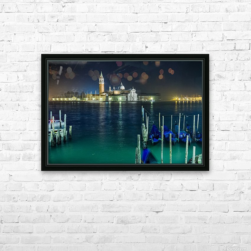 Venice by night HD Sublimation Metal print with Decorating Float Frame (BOX)