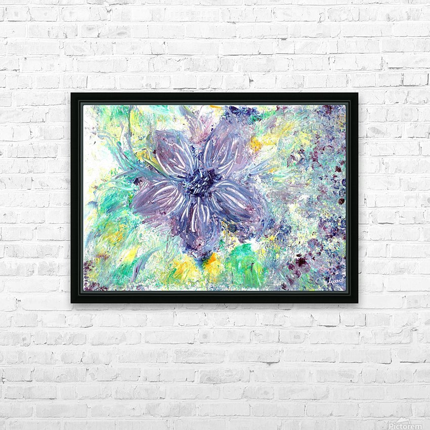 Abstract flower HD Sublimation Metal print with Decorating Float Frame (BOX)