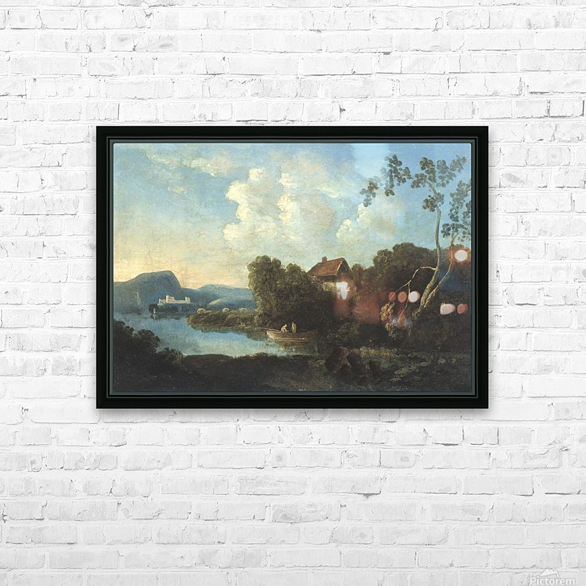 Two men in a boat HD Sublimation Metal print with Decorating Float Frame (BOX)