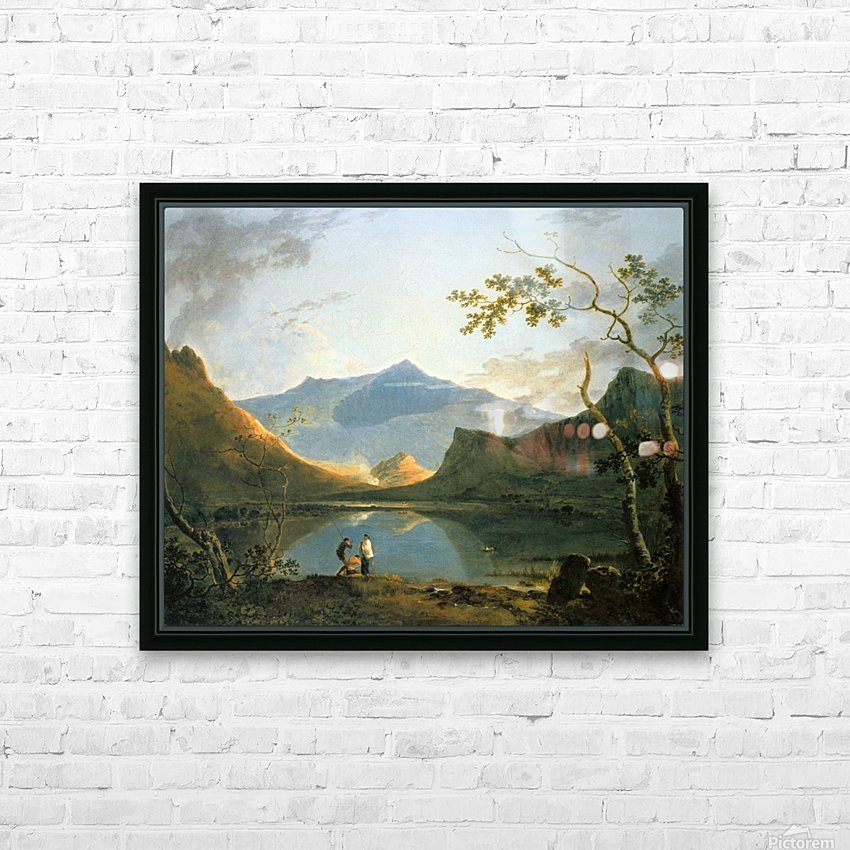 View of Snowdon HD Sublimation Metal print with Decorating Float Frame (BOX)