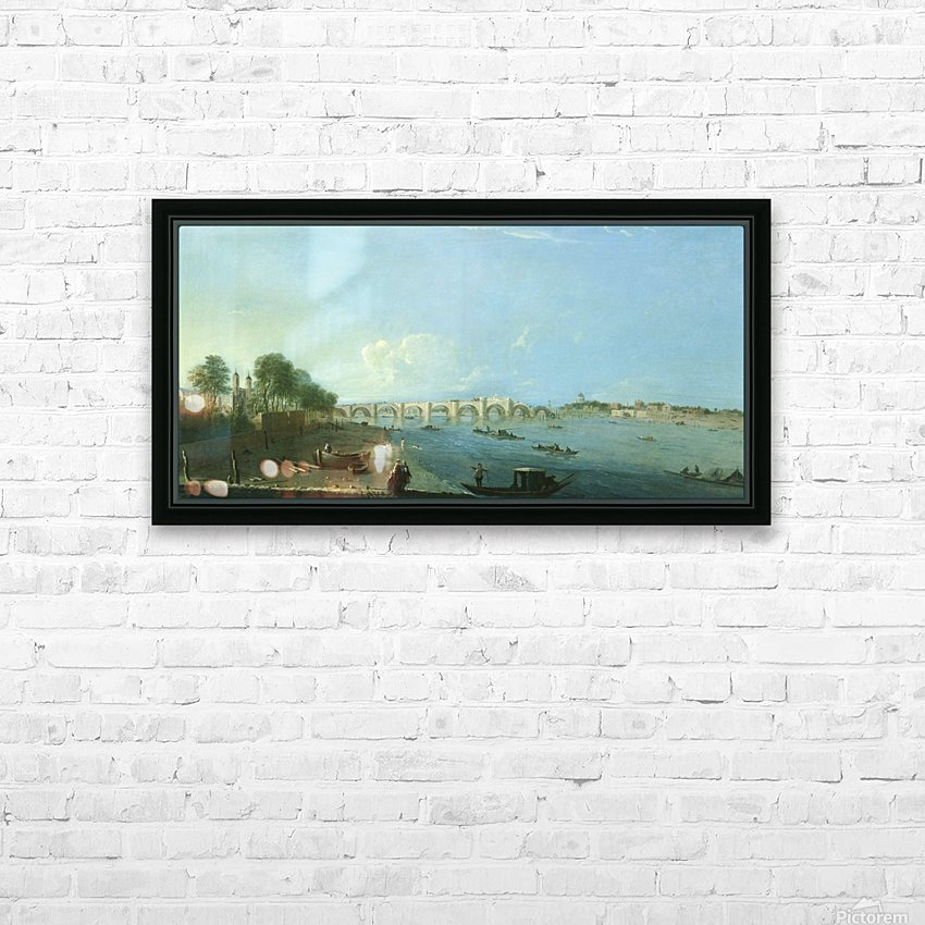 Wesminster Bridge HD Sublimation Metal print with Decorating Float Frame (BOX)