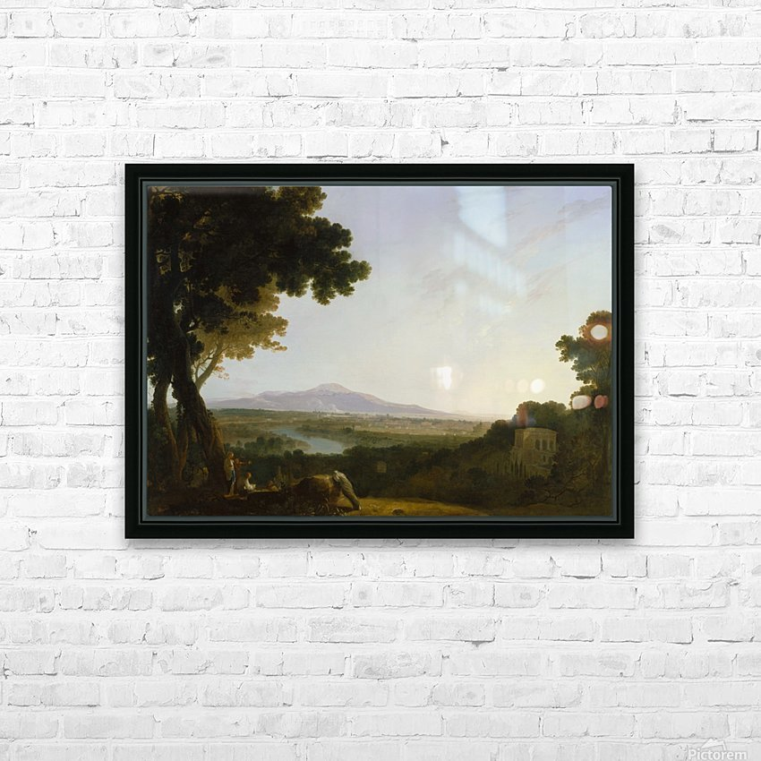 Rome from the villa Madama HD Sublimation Metal print with Decorating Float Frame (BOX)