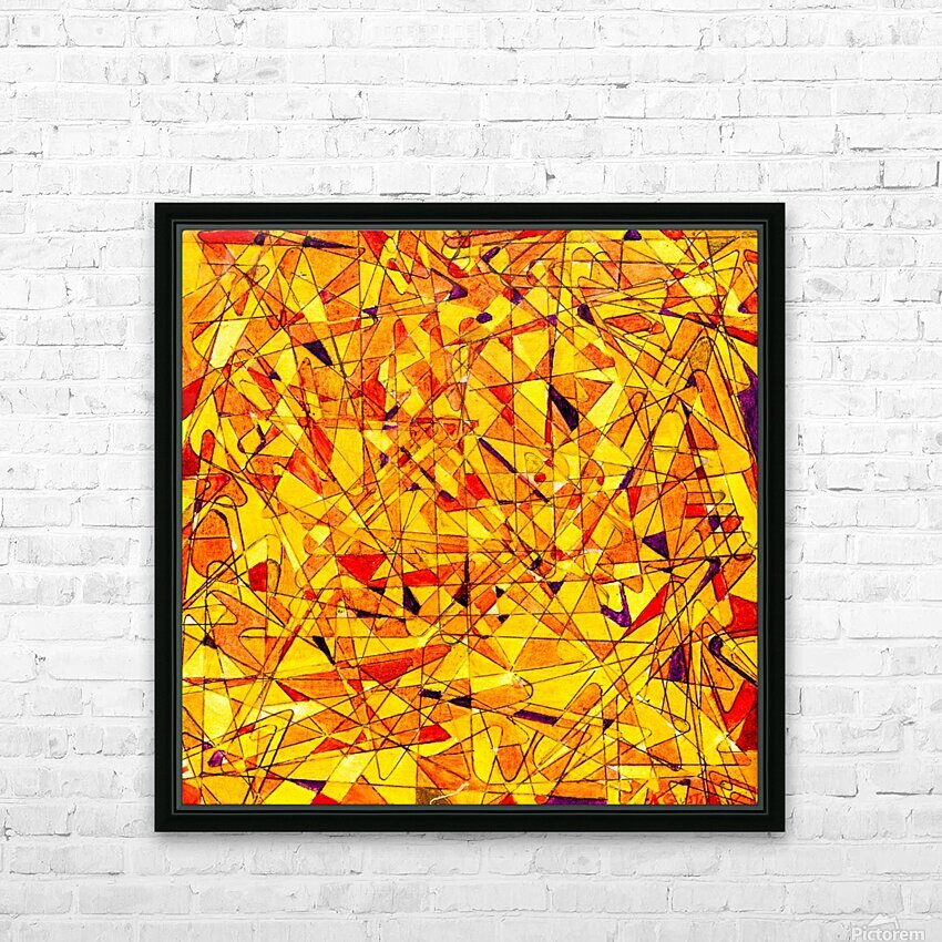 ABSTRACT SHAPES 09 HD Sublimation Metal print with Decorating Float Frame (BOX)