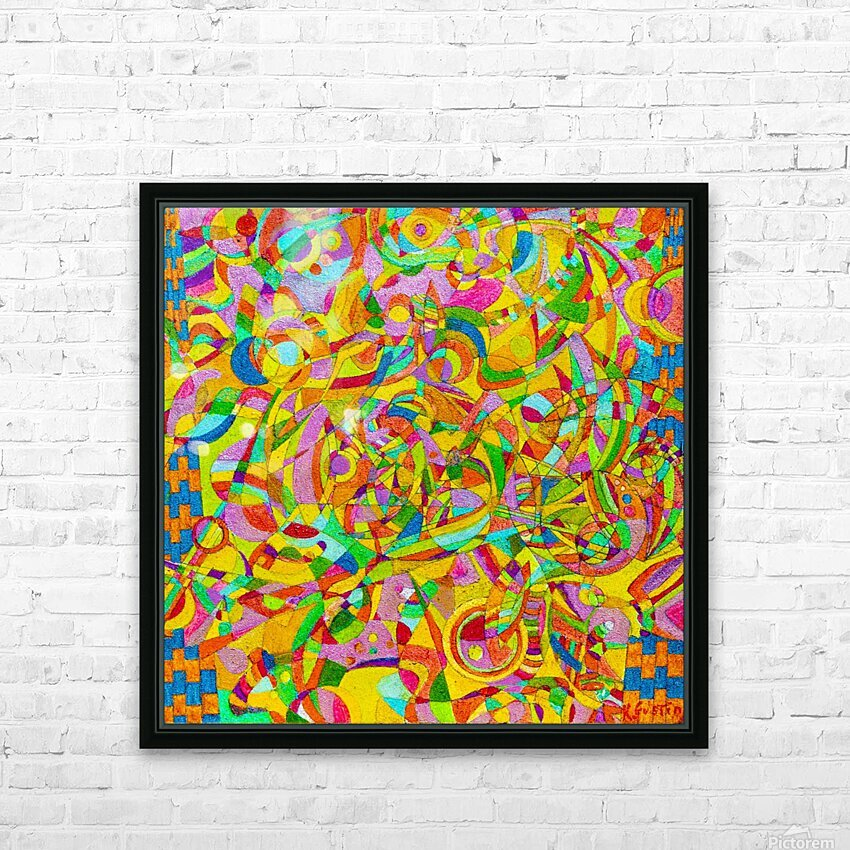 ABSTRACT SHAPES 08 HD Sublimation Metal print with Decorating Float Frame (BOX)