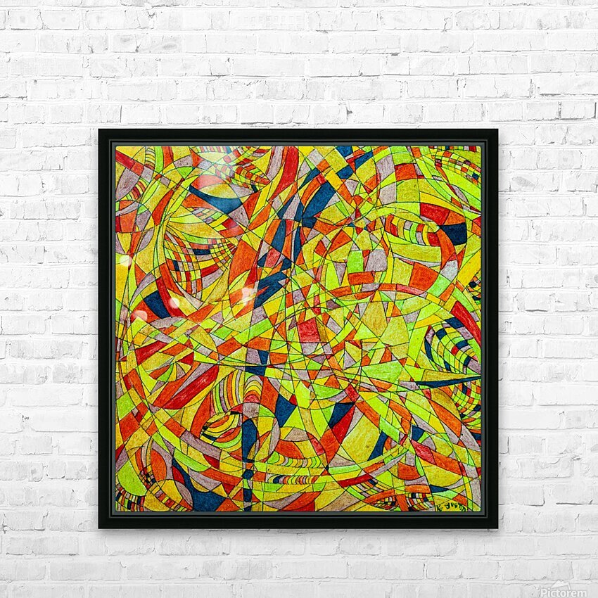 ABSTRACT SHAPES 10 HD Sublimation Metal print with Decorating Float Frame (BOX)
