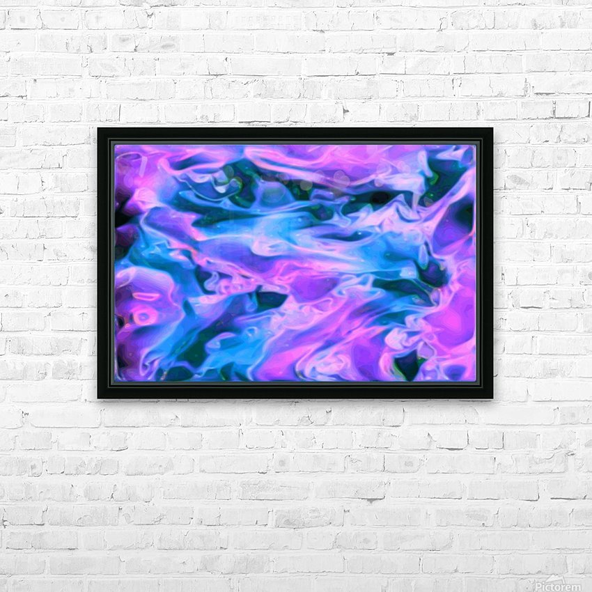Purple Ice - purple blue abstract swirl wall art HD Sublimation Metal print with Decorating Float Frame (BOX)