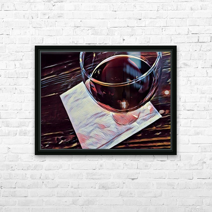 Wine Art HD Sublimation Metal print with Decorating Float Frame (BOX)