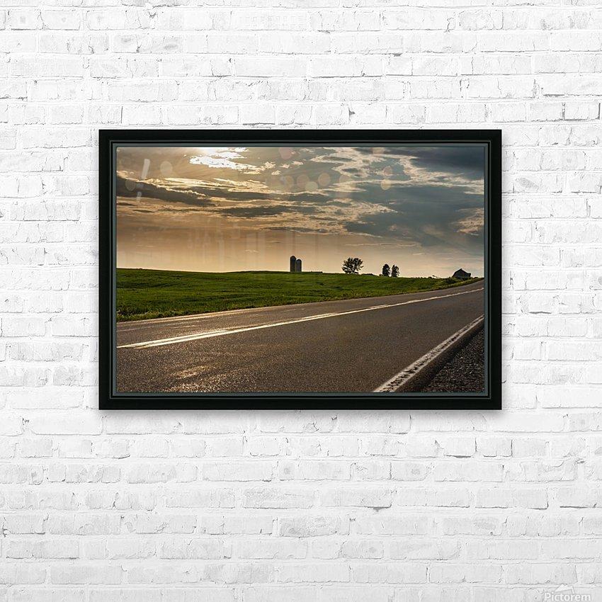 A twilight on the road HD sublimation métal imprimé avec décoration flotteur cadre (boîte)