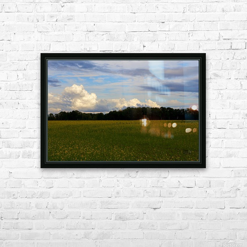 Champ ensoleille- Sunny field HD Sublimation Metal print with Decorating Float Frame (BOX)