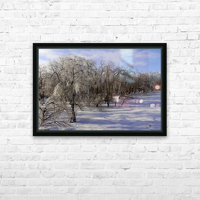 Matin glace- Iced morning HD Sublimation Metal print with Decorating Float Frame (BOX)