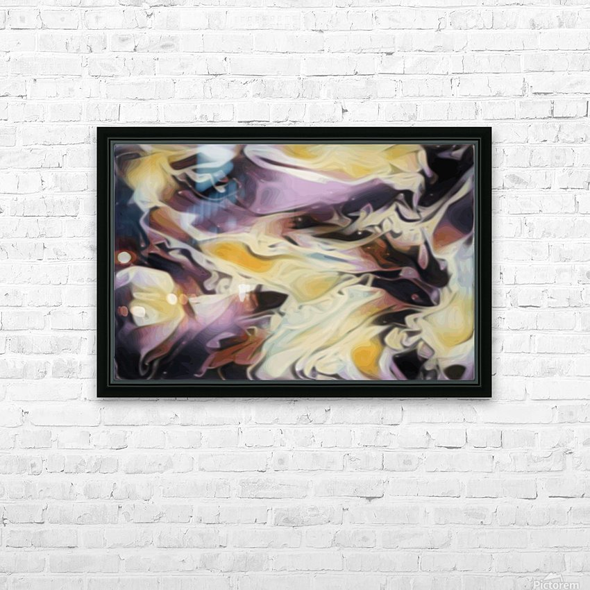 Cosmic - multicolored abstract swirl wall art HD Sublimation Metal print with Decorating Float Frame (BOX)