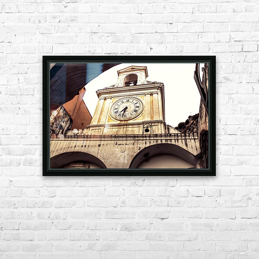 The Church  - Tower Clock HD Sublimation Metal print with Decorating Float Frame (BOX)