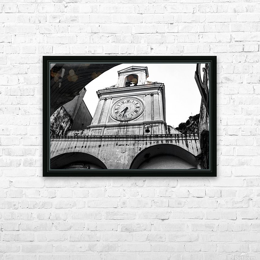The Church - Ancient Tower Clock HD Sublimation Metal print with Decorating Float Frame (BOX)