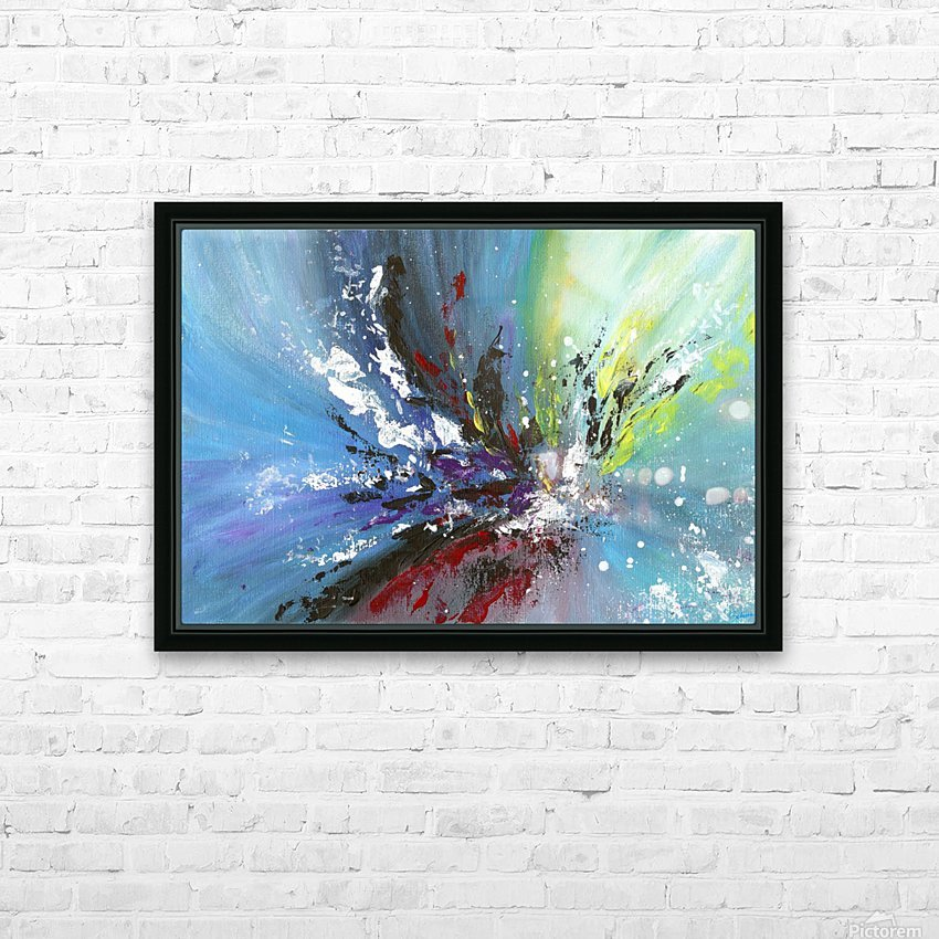 Abstract 165 HD Sublimation Metal print with Decorating Float Frame (BOX)