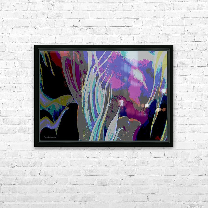 Colorful Melody Waves HD Sublimation Metal print with Decorating Float Frame (BOX)