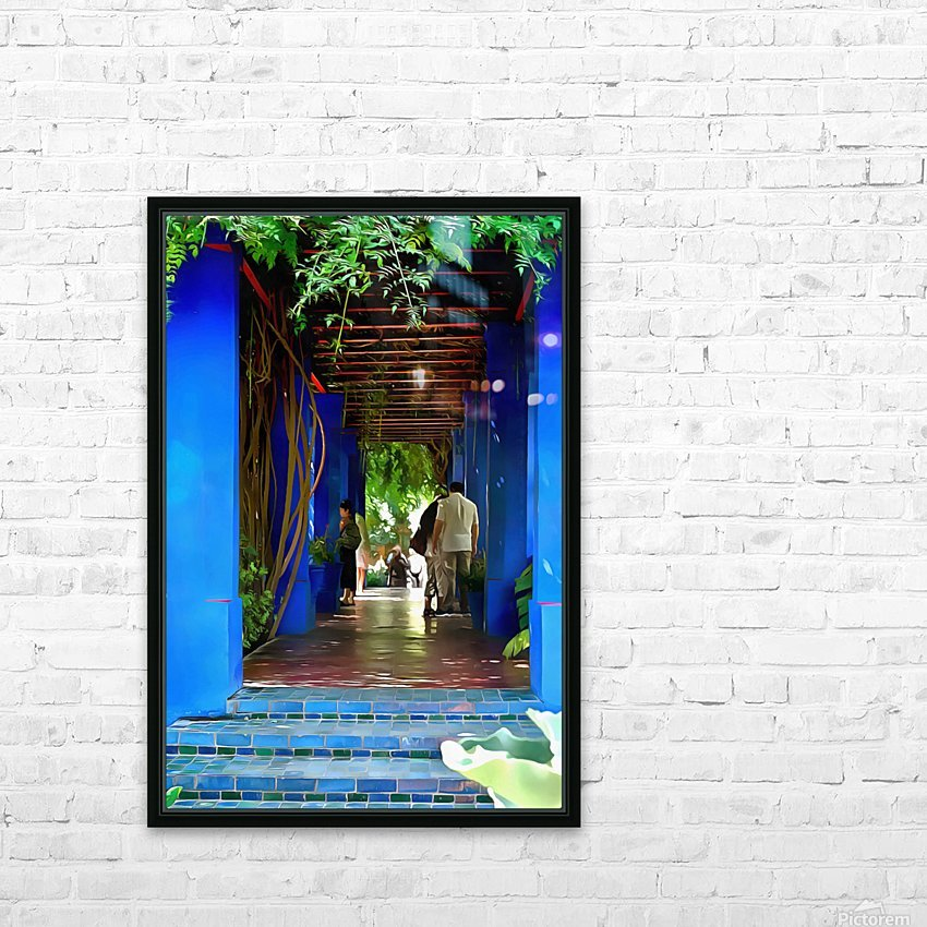Shady Blue Walkway Marrakech HD Sublimation Metal print with Decorating Float Frame (BOX)