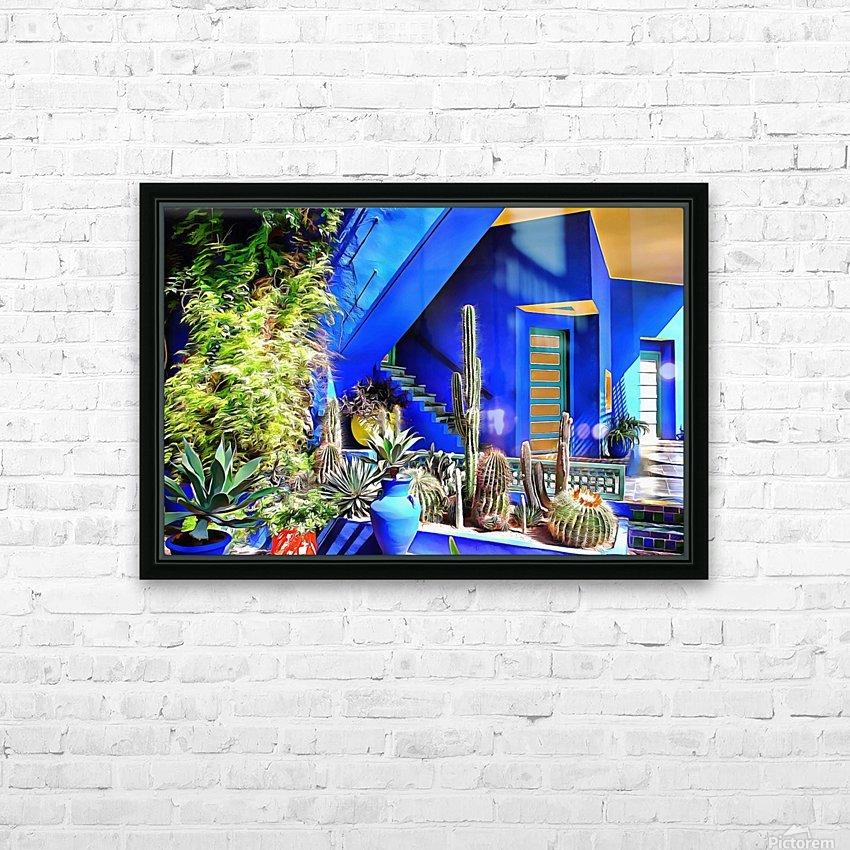Cubist Villa Jardin Majorelle Marrakech HD Sublimation Metal print with Decorating Float Frame (BOX)