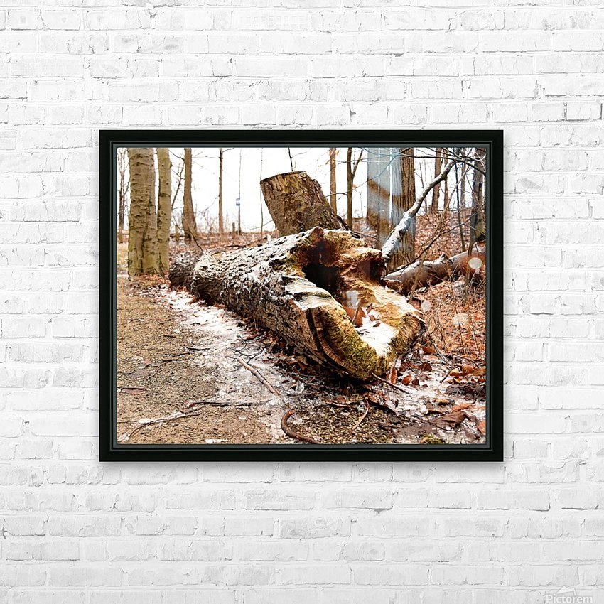 Log HD Sublimation Metal print with Decorating Float Frame (BOX)