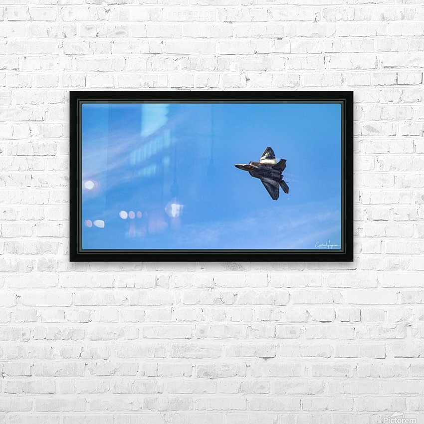 F22 raptor  HD Sublimation Metal print with Decorating Float Frame (BOX)