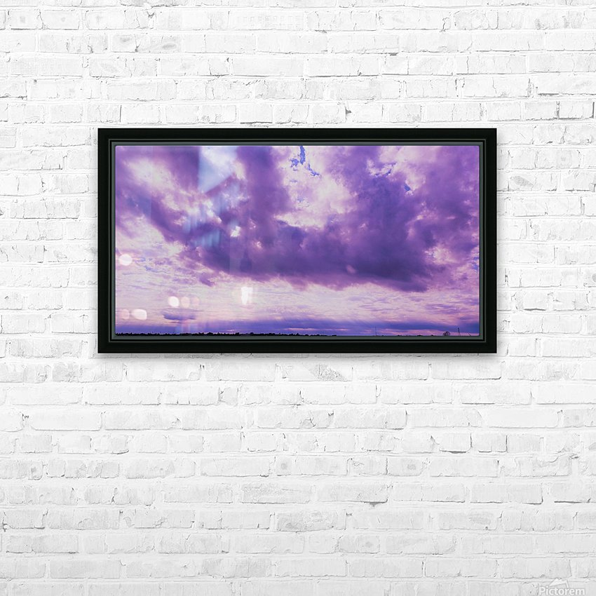 Purple skies HD Sublimation Metal print with Decorating Float Frame (BOX)